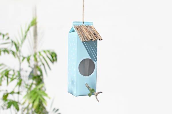 Begrüße die Vögel im Garten!