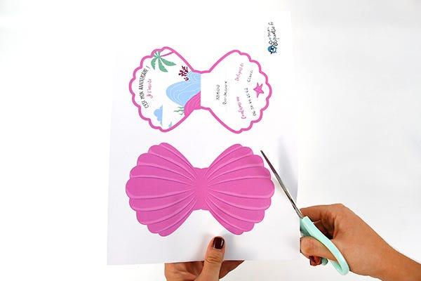 einladungskarten meerjungfrau | diy-bastelideen esistmeins