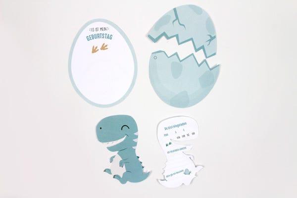 Dino Eier Einladungskarten Kindergeburtstag Diy Bastelideen Esistmeins