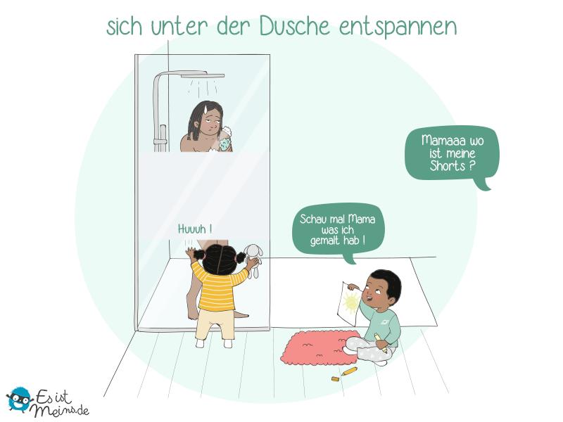 Als Elternteil musst du dich leider von deiner Privatsphäre verabschieden, vor allem im Badezimmer!