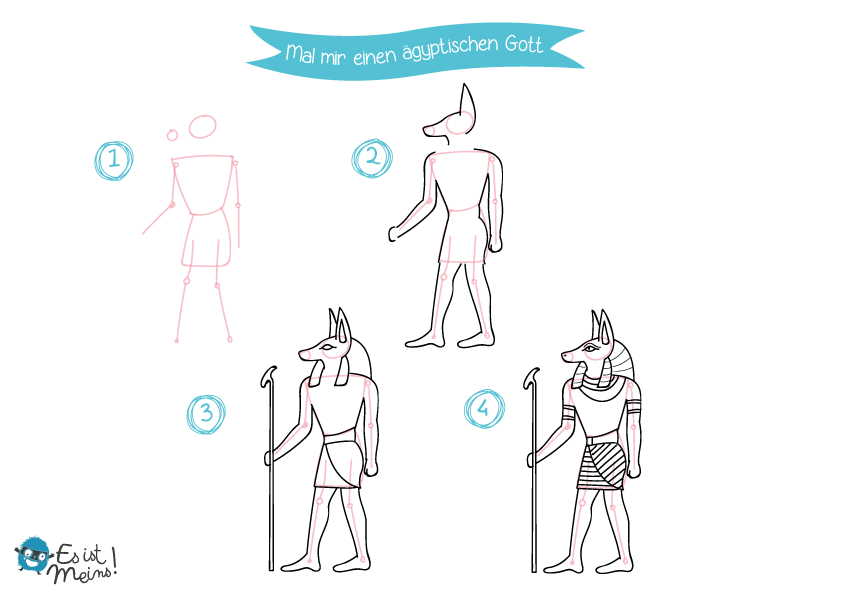 Mal die Symbole des alten Ägyptens!