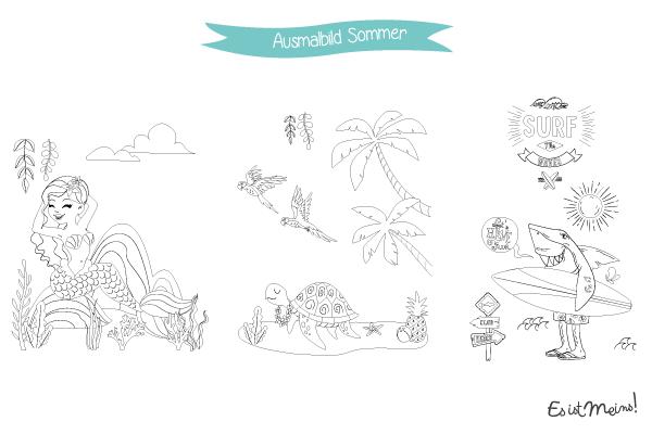 Dank der Sommermalbücher, die Sie gratis hochladen können, bringen wir die Tropen und gute Laune ins Haus!