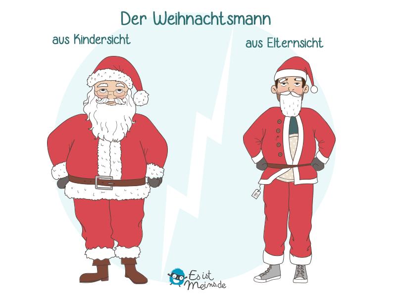 Jedes Jahr haben die Eltern Angst, dass die Kinder sie unter der Weihnachtsmannverkleidung erkennen.