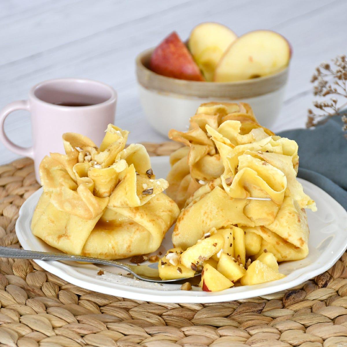 Ein originelles Crêpe-Rezept für die Lichtmesse als Nachtisch oder für die Kaffeezeit, leicht zuzubereiten oder Kaffee.
