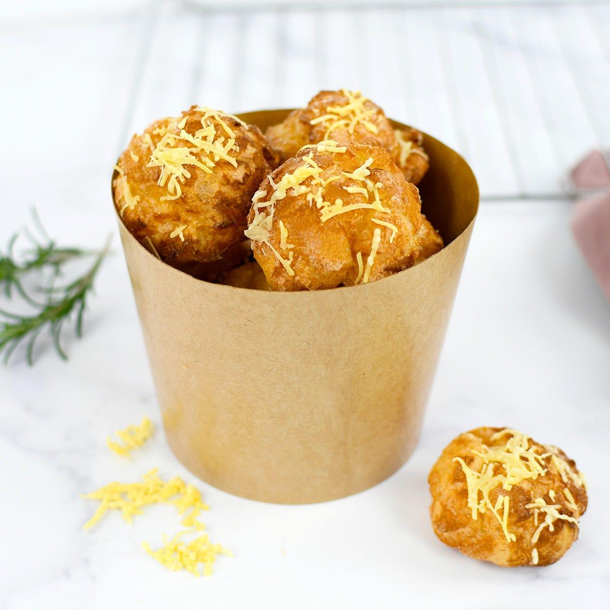 Ein Käsewindbeutelrezept für die ganze Familie zur Verkostung oder zum Aperitif oder als Nachtisch.
