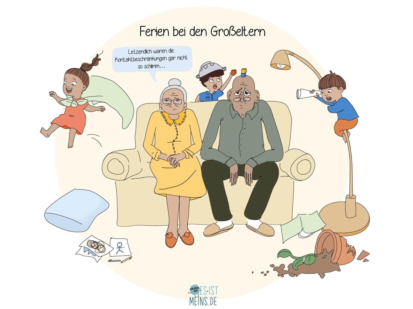 Während der Ferien träumen viele davon, die Kinder bei ihren Großeltern zu lassen… Sehr zum Leidwesen von Letzteren.