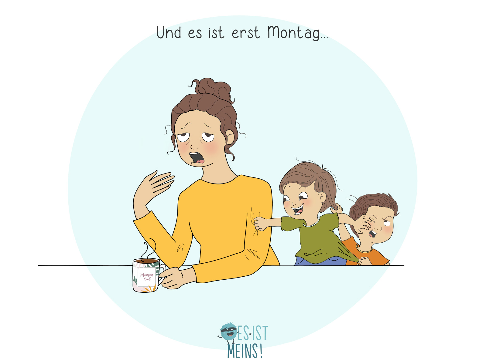Wissen Sie auch, was ein harter Montagmorgen ist? Kinder in Topform und Eltern in Zeitlupe!
